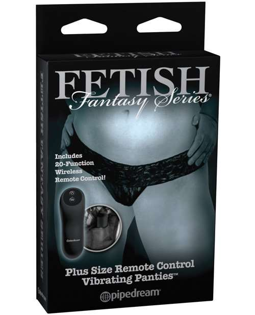Fetish Fantasy Limited Edition Remote Control Vibrating Panties - Plus Size Black