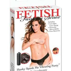 Fetish Fantasy Series Hanky Spank Me Vibrating Panties - Black