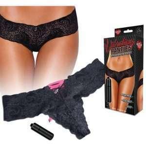 Hustler Vibrating Panties w/Bullet Black M/L